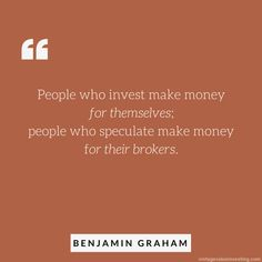 Quote of the Week: People Who Invest Money – Vintage Value Investing Value Investing, Investing Money, Warren Buffet Quotes, Benjamin Graham, Stock Market For Beginners, Financial Quotes, Stock Analysis, Investment Quotes, Trading Quotes