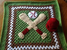 For the Love of Baseball Granny Square Blanket... perfect for little boys!