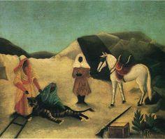 The Tiger Hunt - Henri Rousseau