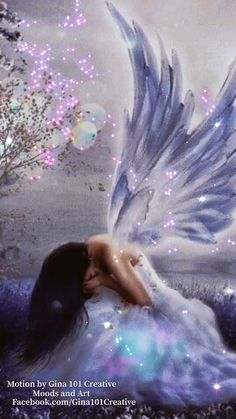 Beautiful Fantasy Art, Beautiful Fairies, Beautiful Gif, Guardian Angel Pictures, Angel Images, Beautiful Angels Pictures, Christmas Scenery, Angel Artwork, Animated Love Images