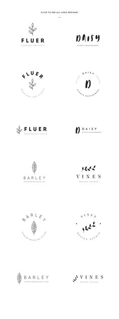 Elegant Logo Templates by GraphicSupplyCo. on @creativemarket