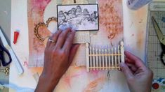 DT Project for Melissa Frances Start to finish Layout tutorial Wood Embe...