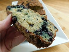 Weight watcher recipes, 2 smart point Cinnamon sugar topped blueberry banana loaf by drizzle me skinny