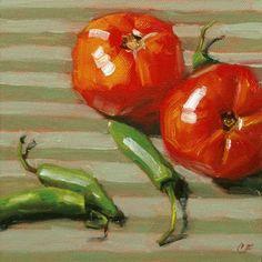 """""""Zest"""" - Original Fine Art for Sale - © by Carolyn Finnell"""