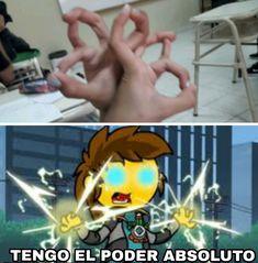 Tengo el poder absoluto Accel World, Spanish Memes, Top Memes, Funny Relatable Memes, Dbz, Otaku, Legoland, Anime, Pokemon