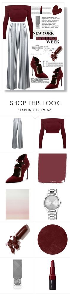 """What to Wear to NYFW"" by nendeayesika ❤ liked on Polyvore featuring Jonathan Simkhai, Christian Dior, Sandberg Furniture, Nine West, LAQA & Co., Burberry, Bobbi Brown Cosmetics and NYFW"