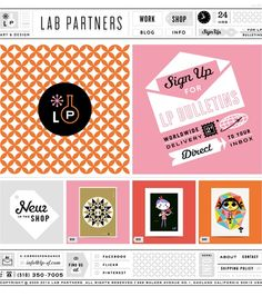 Lab Partners - Website of husband + wife creative team out of Northern California.