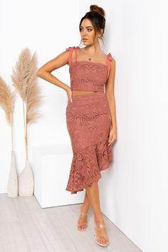 Skyler Set - Mauve Lace Dress, Strapless Dress, White Dress, Sisters The Label, Semi Formal Dresses, Womens Fashion Stores, Mauve Color, Online Fashion Boutique, Lace Trim