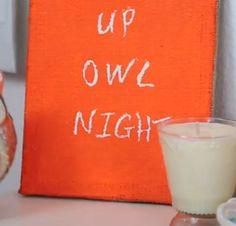 """Up owl night."" fall decor by bethany mota #DIY  perfect"