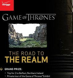 Game of Thrones Verizon Road to the Realm Sweepstakes - Sweeps Maniac