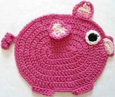Best Free Crochet » #298 The Little Piggy Crochet Dishcloth – Maggie Weldon Maggies Crochet