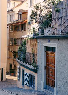 Fine Art Photography Print Alley in Zürich by suziesparkles