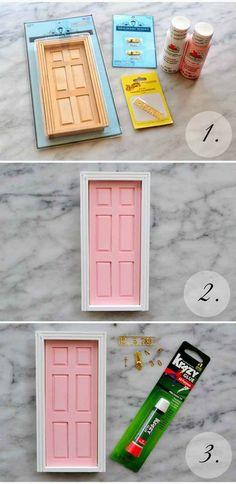 DIY an a-door-able tooth fairy door.