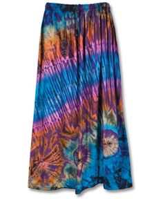 Soul Flower - Mudmee Tie-Dye Bell Skirt - $35.00 - one of my very favorite things from Soul-Flower! Soo pretty and so comfortable, too!