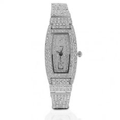 Brass Crystal Pave Fashion Watch 7.5in
