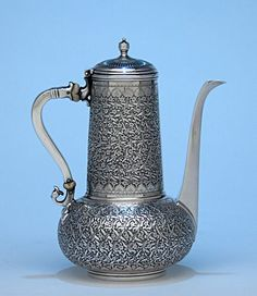 iffany & Co Antique Sterling Silver Aesthetic Movement Coffee Pot, New York - c. 1888: