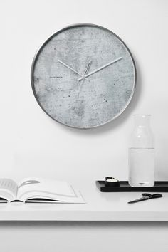 Structure Cement Clock by Cloudnola | From Cloudnola.me
