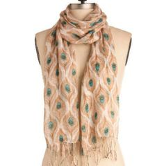 Anthropologie Peacock Feather Scarf | eBay