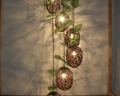 handmade Natural Rattan Woven six Balls Pendant Lights Living Room chandelier Lamp Bedroom Rattan Pendant Light, Pendant Lights, Chandelier In Living Room, Chandelier Lamp, Basket Weaving, Woven Baskets, Drop Lights, Woven Chair, Lamp Light