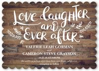 Love And Laughter Forever Wedding Invitation
