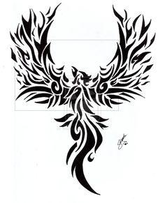 Resultado de imagen de Tribal Phoenix Tattoo Designs - My best tattoo list Tribal Tattoos For Women, Tribal Sleeve Tattoos, Best Sleeve Tattoos, Tribal Tattoo Designs, Trendy Tattoos, Body Art Tattoos, New Tattoos, Tattoos For Guys, Celtic Tattoos