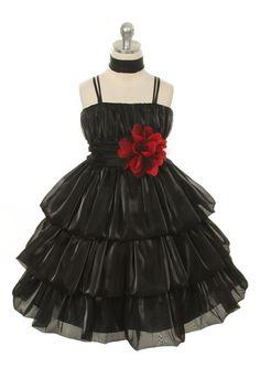 Kid's Dream Girls Black Double-layered Organza Party Dress  #instalikes #canada #fashionista #fashionstyle #onlinestore #Oasislync #shoppingonline #fashion #shopping #shoppingday