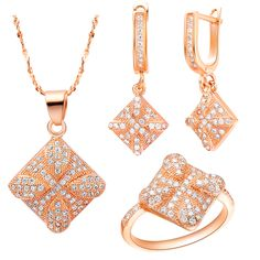 Find More Jewelry Sets Information about Rose Gold Plated silver