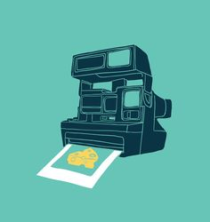 Retro Art - Say Cheese by Budi Satria Kwan Cheese Design, Cheese Art, Polaroid, Best Cheese, Popular Art, Anime Couples Drawings, Retro Art, Art Pages, Art For Sale