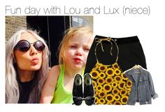 """""""Fun day with Lou and Lux (niece)"""" by dipx1d ❤ liked on Polyvore featuring D&G, GUESS and Vans"""