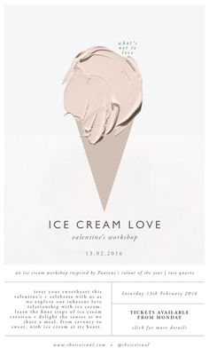 Ice Cream Love Workshop poster design by She Is Visual Web Design, Layout Design, Design Art, Print Design, Design Ideas, Design Graphique, Art Graphique, Graphic Design Typography, Graphic Design Illustration