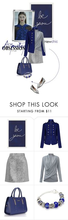 """Rock This Look: Blue and Silver"" by lacas ❤ liked on Polyvore featuring мода, Pottery Barn, Antonio Berardi, Topshop, Miu Miu и blueandsilver"