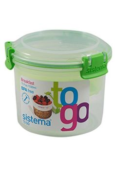 Sistema To Go Breakfast Container. Shop more great items at Readi Set Go in the Glebe, Ottawa's one stop shop for all travel, urban and lunch gear. Breakfast On The Go, Free Breakfast, Bento Box Lunch, Lunch Boxes, Kebab Sticks, Dry Snacks, Snack Containers, Condiment Sets, Healthy School Lunches