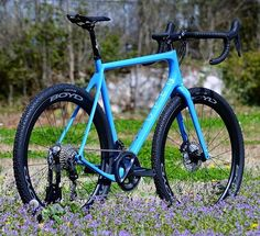 Open U.P. custom built with Boyd wheels and Ultegra 8020. Wild flowers not included. #openup #openbike #gravelbike #bikelove