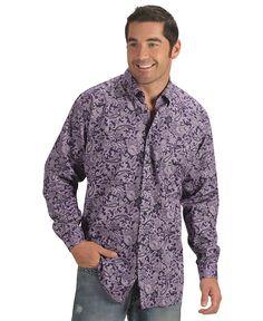 Cinch ®  Purple & Black Floral Paisley Shirt