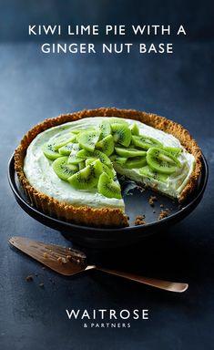 kiwi lime pie with gingernut base Sweet Pie, Sweet Tarts, Other Recipes, Sweet Recipes, Waitrose Food, Comidas Fitness, Kiwi, Lime Pie Recipe, Food To Make