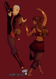 Aang & Katara dancing as adults Avatar Aang, Avatar Airbender, Avatar Legend Of Aang, Team Avatar, Legend Of Korra, Avatar Cartoon, Avatar Funny, Avatar Fan Art, Avatar Picture