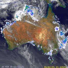 National Radar image:     12:58 UTC  Fri 20 Feb 2015 http://www.bom.gov.au/products/national_radar_sat.loop.shtml