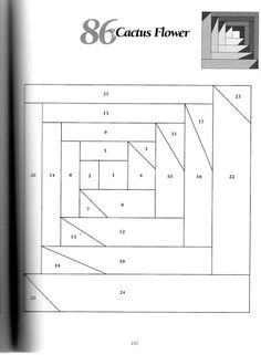 Paper Pieced Quilt Patterns, Patchwork Patterns, Pattern Paper, Quilting Patterns, Quilting Tutorials, Quilting Designs, Log Cabin Quilts, Log Cabins, Painted Barn Quilts