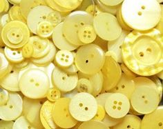Mixed Yellow Sewing Buttons