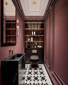 Home Room Design, Interior Design Studio, Interior Design Inspiration, House Design, Design Ideas, Wc Design, Toilet Design, Restaurant Bathroom, Toilet Restaurant