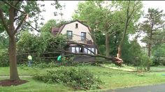 SCHAUMBURG, Ill. --  Strong winds, severe downpours and hail caused major damage in several north and northwest suburbs with Schaumburg and Itasca among the hardest hit.  Massive amounts of rainfall -- then hail --and high winds quickly turned destructive with trees uprooted, tree branches snapped in half and power lines downed.