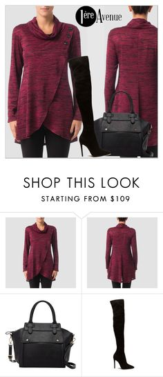 """""""Joseph Ribkoff"""" by premiereavenue-boutique ❤ liked on Polyvore featuring Pink Haley, IWearPinkFor, premiereavenue, premiereavenueboutique and JosephRibkoff"""