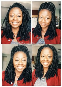 Medium length box braids by Annie. @couchbraids #couchbraids bob box raids