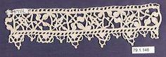 Date:      ca. 1600  Culture:      Italian  Medium:      Needle lace  Dimensions:      L. 13 1/2 x W. 3 1/2 inches (34.3 x 8.9 cm)