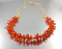 Riviera Red Coral Branch Necklace Style