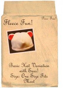 Basic Hat With Bear Ears    free fleece hat pattern on www.fleecefun.com