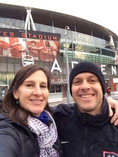 London, Arsenal Football, then on to Paris.