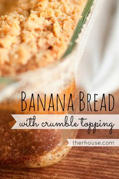 Perfectly Moist Sour Cream Banana Bread with Crumble Topping