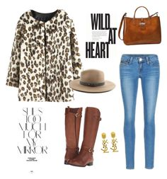 """Animal print"" by raquel-sugranyes on Polyvore featuring WithChic, Naturalizer, Longchamp, Levi's, Yves Saint Laurent, Rika and rag & bone"