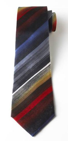 Stripes & Brushstrokes Tie, Ties, Apparel & Accessories - The Museum Shop of The Art Institute of Chicago
